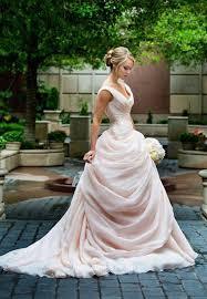 pink wedding dresses uk gown blush ruffled cascading sleeveless v neck fashion