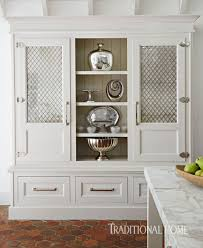 Glass Doors Cabinets by Calcatta Gold Marble Wire Grid Glass Doors On Cabinets With
