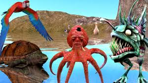 top unseen finger family sea animals nursery rhymes 3d