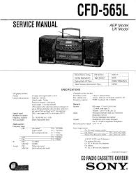 sony cfd565l service manual immediate download