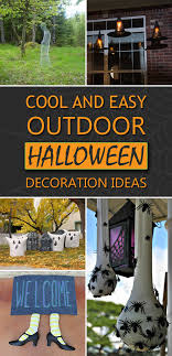 home made halloween decorations diy halloween outdoor decorations 20 easy and cheap diy outdoor