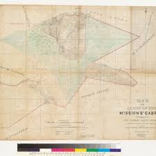 Los Angeles County Plat Maps by Calisphere Map Of The Lands Of The Mission San Gabriel Situated