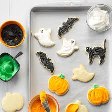 halloween party cutout cookies recipe taste of home