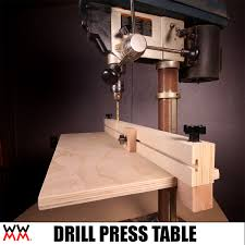 Drill Press Table Make A Drill Press Table