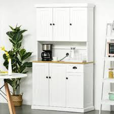 gremlin wheeled kitchen storage sideboard buffet cabinet white wood cabinet kitchen pantry