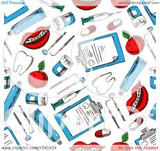 halloween background dental clipart of a seamless background pattern of sketched dental items