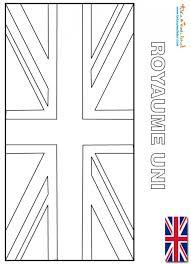 Coloriage du drapeau du RoyaumeUni  les drapeaux du monde sur Tête