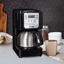 Coffee Maker With Grinder And Thermal Carafe Mr Coffee Advanced Brew 5 Cup Programmable Coffee Maker With