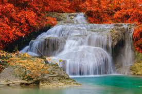 autumn waterfalls nature wallpaper way2wallpapers