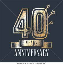 40th anniversary color 40 years anniversary vector icon logo stock vector 660397447