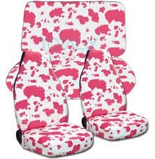 white and pink jeep jeep wrangler yj tj jk 1987 2017 animal print seat covers full set