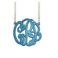 monogram necklace acrylic acrylic script monogram necklace be monogrammed