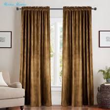 Gold Thermal Curtains Room Darkening Velvet Curtains 84 Gold Brown Drapes For Bedroom