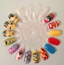 easy nail art characters cute character cartoon high fashion cubbie nail art design using
