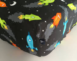 Rocket Ship Crib Bedding Standard Crib Size Etsy
