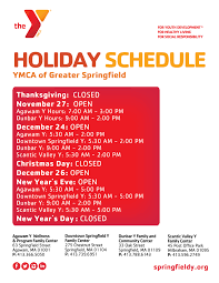Post Office Thanksgiving Hours Ymca Of Greater Springfield Family Center Holiday Hours Ymca