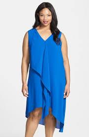 adrianna papell sleeveless asymmetrical front drape crepe shift