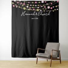 wedding backdrop accessories pink and gold wedding photo backdrop party banner tapestry