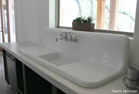 farmhouse sink with backsplash lovely farmhouse sink with drainboard and backsplash double kitchen