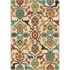Nature Area Rugs Shop Orian Rugs Punjab Indoor Nature Area Rug Common 8 X 11