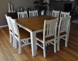 white square kitchen table white 8 seater square dining table chairs rustic french provincial
