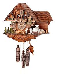 cuckoo clock 8 day movement chalet style 40cm by hubert herr 65