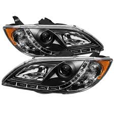 mazda 3 sedan amazon com spyder auto mazda 3 sedan black drl led crystal