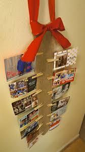christmas card holder how to display cards diy burlap wall christmas card holder