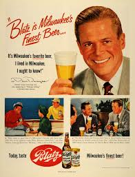1952 ad blatz brewing co beer milwaukee dan duryea original