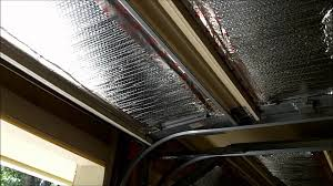 insulating garage doors with reflective insulation youtube