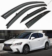 lexus ct200h for sale ebay clip on jdm smoke tinted window visor blk trim fits zwa10 2011