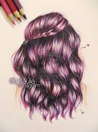 purple hair drawing by gfart08 on deviantart if i could draw
