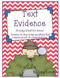 what does the text say citing text evidence with vocals rl
