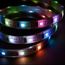 led light strip waterproof nooelec 5m addressable 24 bit rgb led strip waterproof ws2801