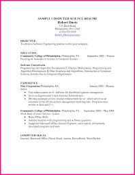 Resume Sample Data Scientist by Computer Science Resume Examples