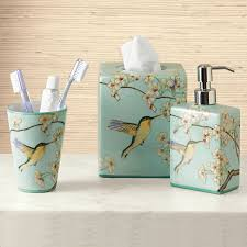 painted hummingbird bath accessories gump u0027s