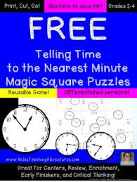 telling time to the nearest minute freebie by hojo tpt