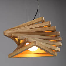 Wood Pendant Light Fixture Creative Design Light Spiral Wood Pendant Light Burlywood Dinning