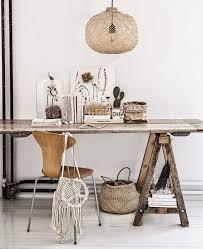 bureau avec treteau bureau bohème inspiration style bohème