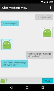 github himanshu soni chatmessageview android library to create