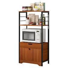 homcom 71 wood kitchen pantry storage cabinet homcom 71 wood kitchen pantry microwave oven stand storage cabinet with storage white oak grain