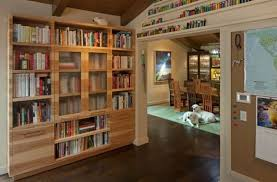 bookcase with glass doors white u2014 doherty house