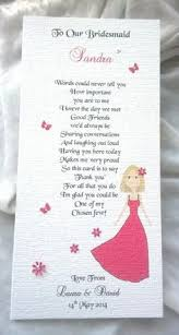 Matron Of Honor Poem Thank You For Being My Bridesmaid Personalised Poem Print