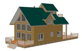 Blueprints For Cabins Custom Cabin Plans Sds Plans