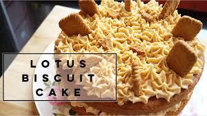 Biscuit Cake Lotus Biscuit Cake Recipe Youtube