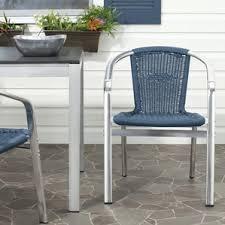 Metal Outdoor Dining Chairs Blue Patio Dining Chairs You U0027ll Love Wayfair