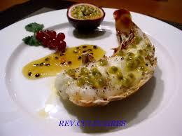 cuisiner des queues de langouste queues de langouste aux fruits de la rêveries culinaires