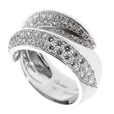 cartier diamond rings images Cartier bypass panthere diamond ring opulent jewelers jpg