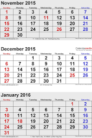 january 2015 calendars for word excel pdf