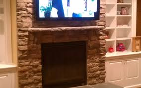tv installed on stone fireplace gallery pictures for installing
